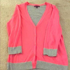 Pink/Gray Cardigan
